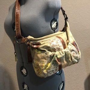 Fossil Vintage Patchwork Fabric Crossbody